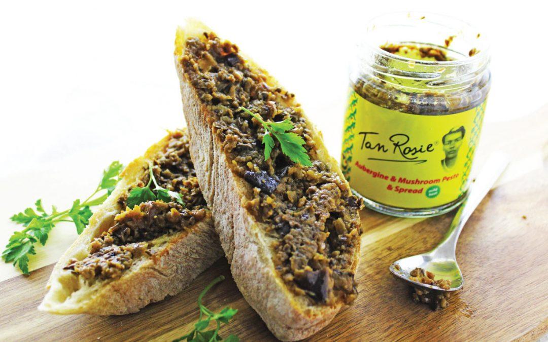 Aubergine & Mushroom on Toast