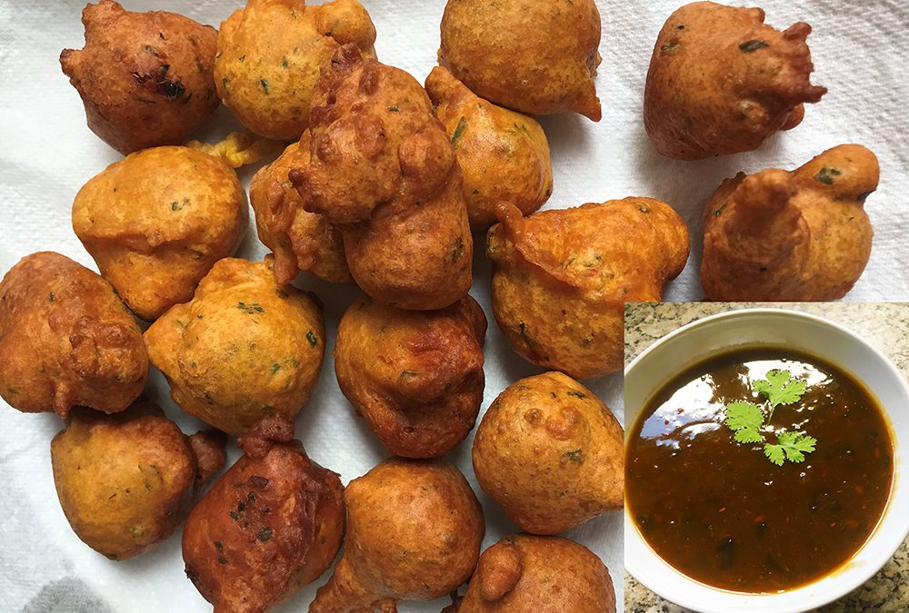 Salt Fish Fritters with a Tamarind Dip
