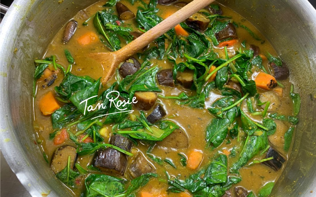 Sweet Potato, Aubergine & Spinach Curry
